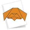 Оригами схема Собака